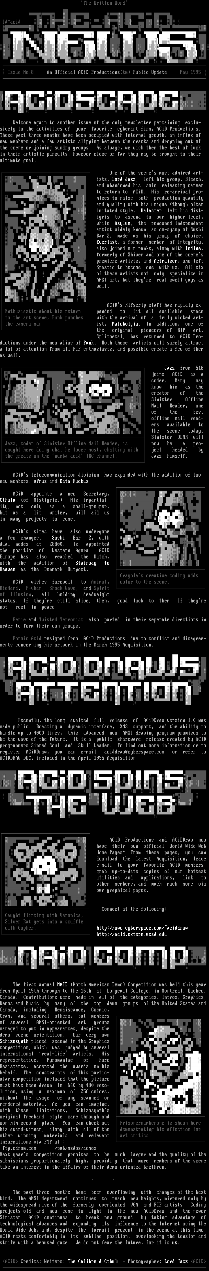 ACiD Newsletter Issue #7 (05/95) by ACiD Press