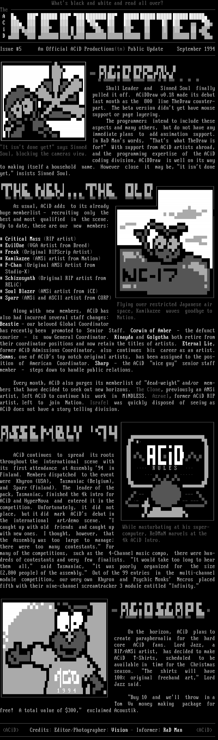 ACiD Newsletter Issue #5 (09/94)