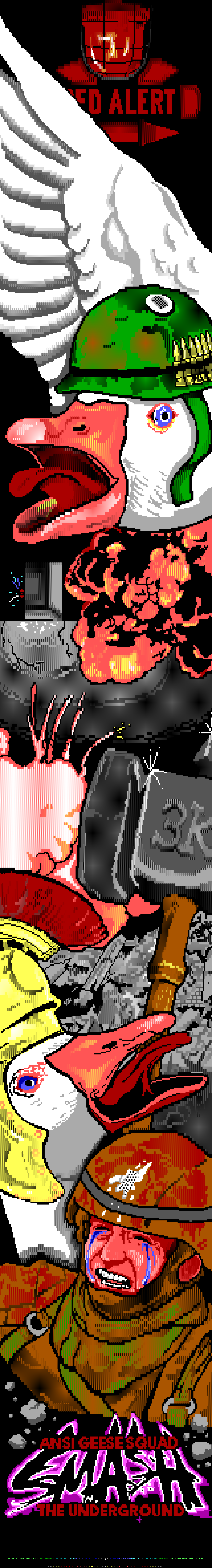 ANSI Geese Squad SMASH the Undergro by Mister Roboto