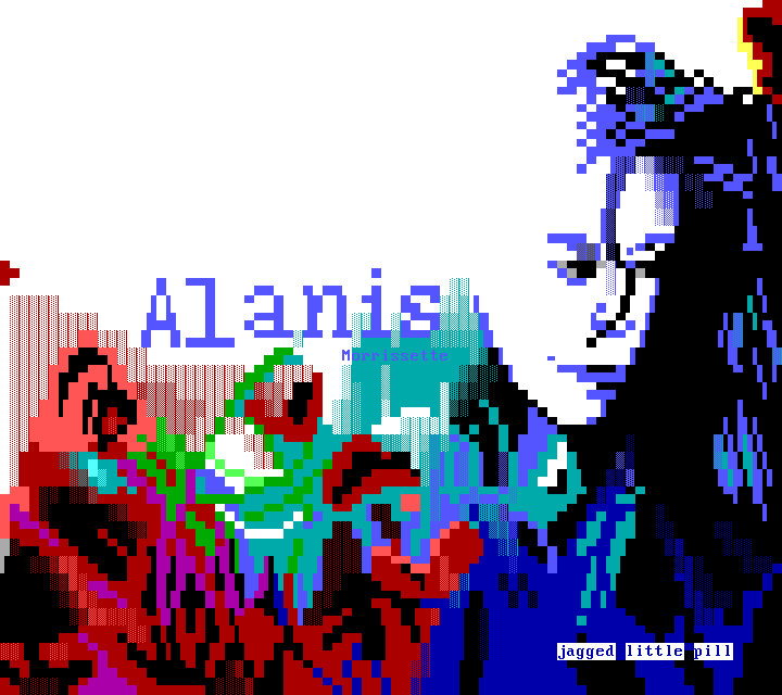 Alanis Jagged little pill by Whazzit