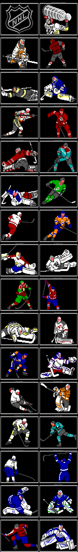 NHL Teams by Whazzit