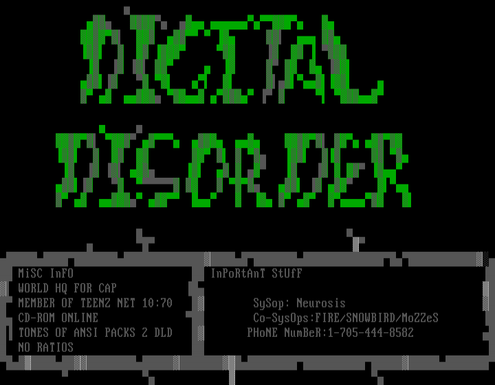 Digital Disorder BBS by Neurosis