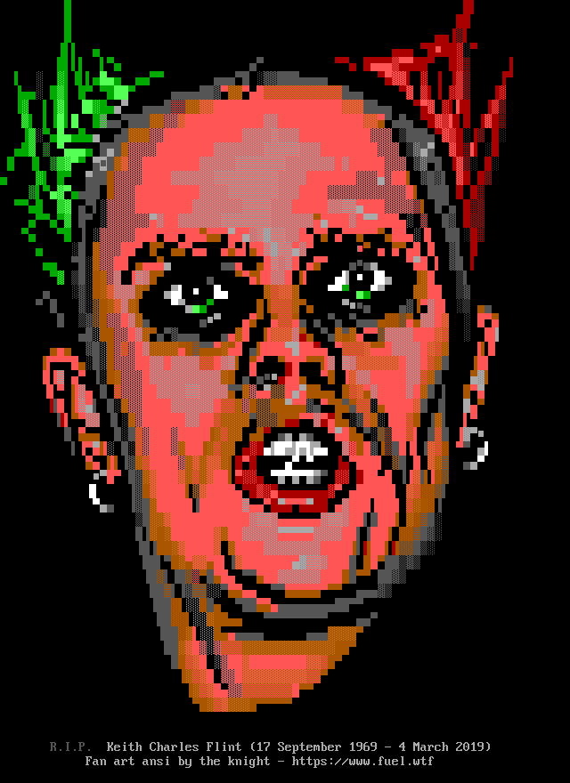 Keith Flint (The Prodigy) by the knight