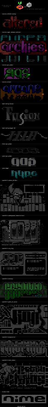 gas ascii collection #2 by gas members