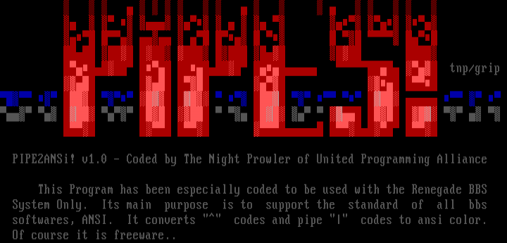 Pipe2Ansi by The Night Prowler