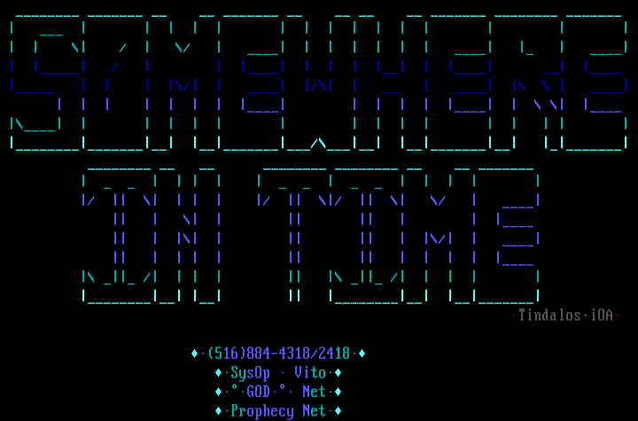 Somewhere in Time Ascii by Tindalos