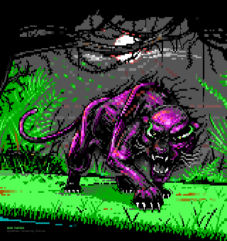 Neon Panther by warpus & tainted
