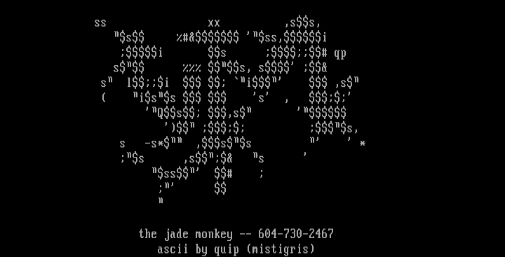 The Jade Monkey by Quip