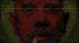 Homage a Chuck Close by God Among Lice