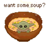 Baby Yoda Soup by Emme Doble