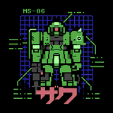 Gundam MS-06 by Buzz_Clik