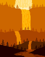 Morning Falls by Pixel Art For The He