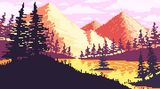 Morning Mountains by Pixel Art For The He