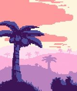 Tropical Sunset by Pixel Art For The He
