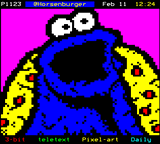 Cookie Monster by Horsenburger