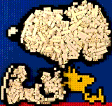 Snoopy and Woodstock by Lego_Colin