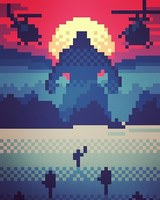 King Kong - Blood Island by 8bitbaba