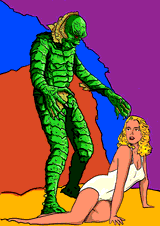 the Creature from the Black Lagoon by Horsenburger