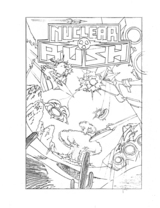 Nuclear Rush cover line art by Marc Ericksen