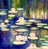 Ode to Monet's Lilies by Melissa Grimm
