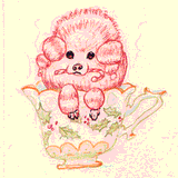 Peppermint Poodle by Theresa Oborn