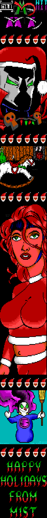 Happy Holidays from MiST ANSI! by MA, MZ, QT, Nit