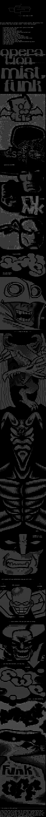 greyness! (operation: mistfunk) by ascii people