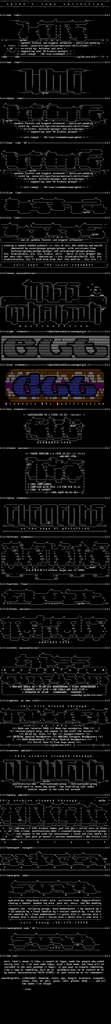 Spike (C) Ascii Collection by Spike