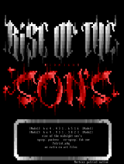 Rise Of The Midnight Sons Font by Morbius