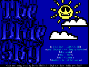 The Blue Sky positive ansi by Eerie