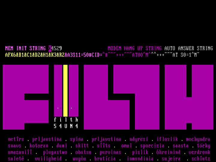 fILTHY iNTERNATIONAL by filth