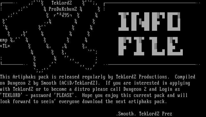 TekLordZ Info Phile by Smooth