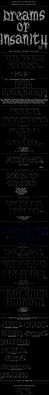 Combination Font #1 by Turtle